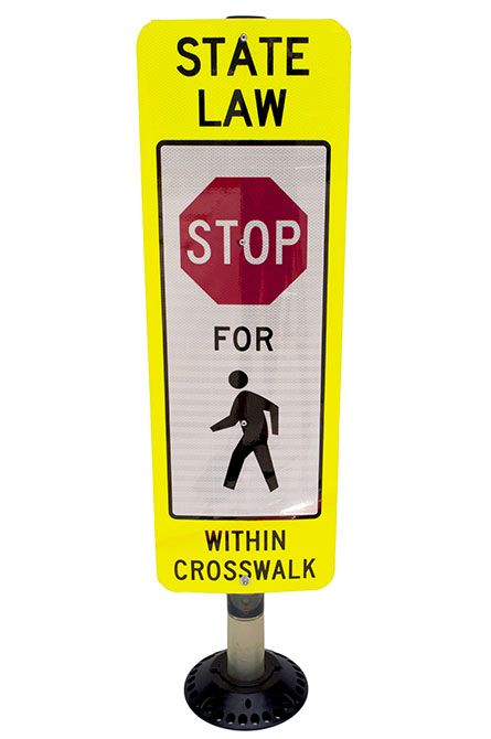 Pedestrian sign 770 crosswalk